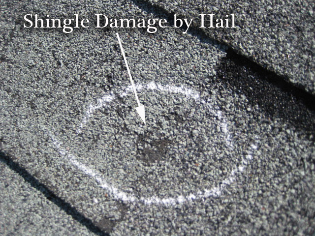 Hail And Wind Damage A Roofing