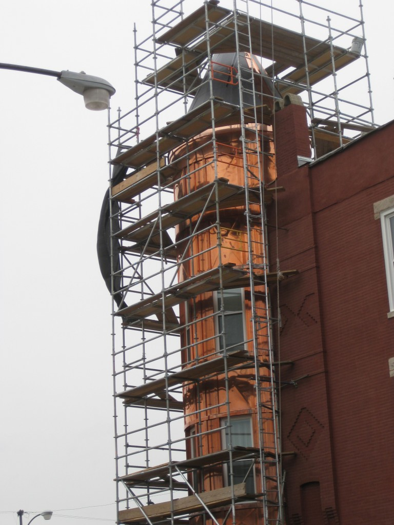Copper Bay Tower Replacement, Scaffolding