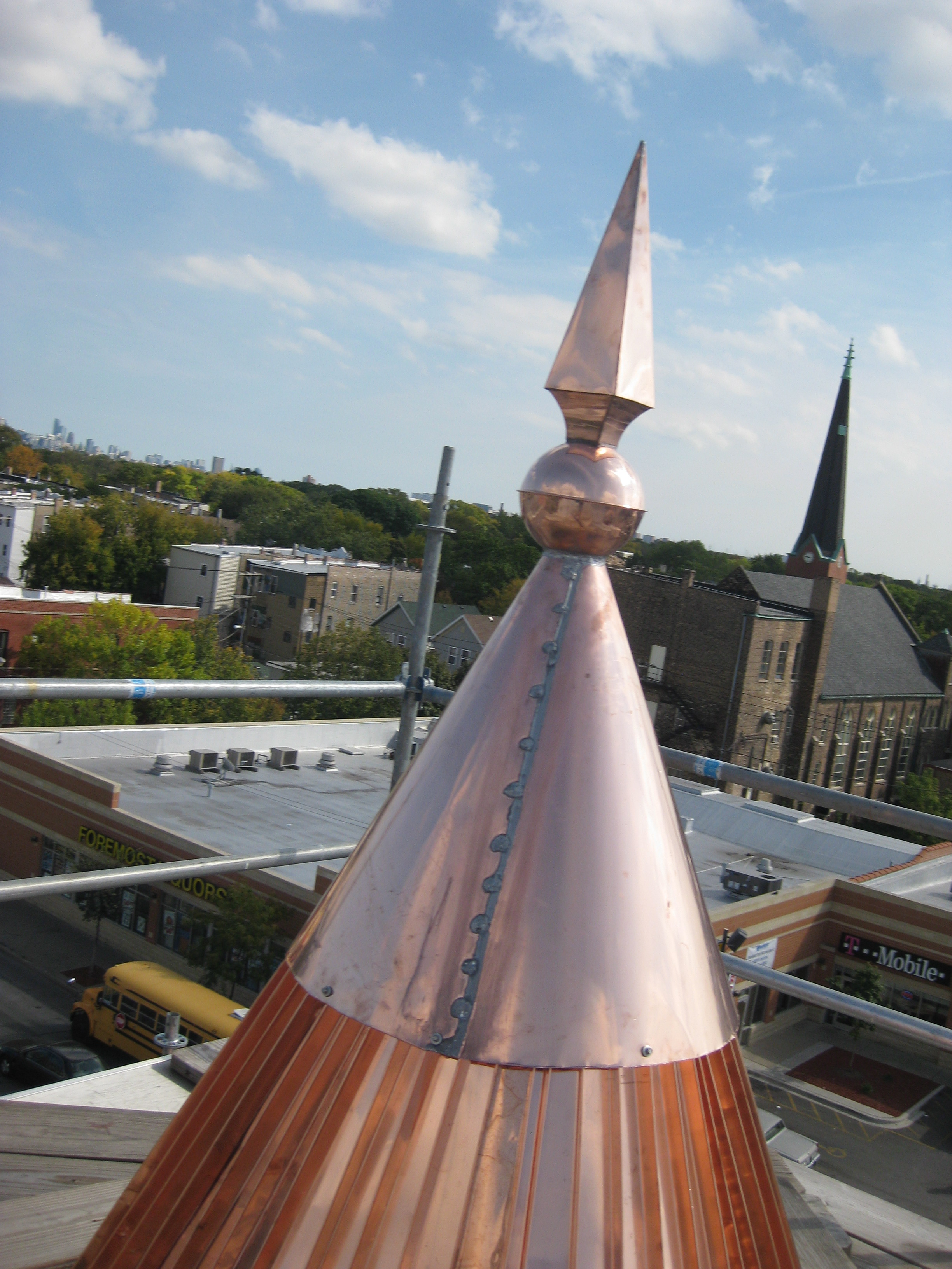 Copper Turret A Roofing