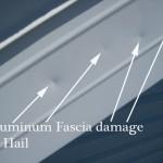 aluminum fascia damage