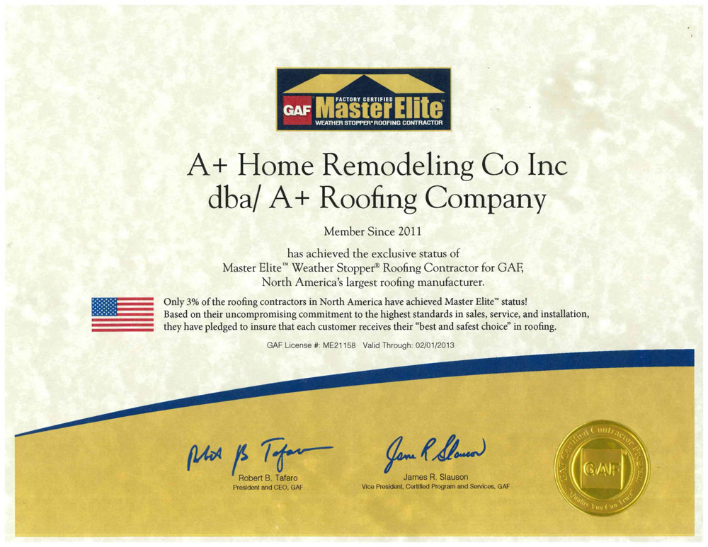 Master Elite 2012 A Roofing