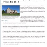 Your new home; Experts predict colors, trends for 2014