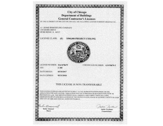 Chicago license